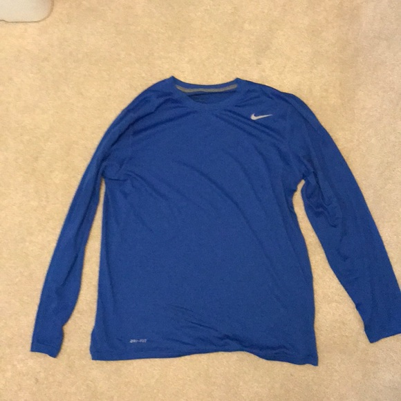 8ba59b1e Nike Shirts | Blue Drifit Long Sleeve | Poshmark